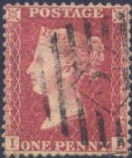 1857 1d Rose-red SG40 Plate 41 'ID'